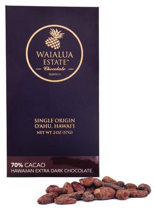 Hawaii Grown - 70% Cacao - Hawaiian Extra Dark Chocolate - $10/bar